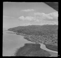 Coastline at Thames, including the Waihou River, Thames, Coromandel, Waikato