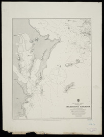 Mahurangi Harbour and approaches [cartographic material] : from sketch surveys made between 1849-55 / soundings in hair line by Mr. F. A. Cudlip ... 1834.