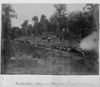 Construction of a road to Waikato, Pokeno Hill