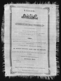 Circus. Benefit of Miss Tournear. Under the distinguished patronage of Colonel McCleverty, Colonel Gold, and the officers of the garrison, who on this occasion will honour the circus with their presence. ... Foley's Royal American Circus, on Monday evening next, 11th instant. ... Tickets ... at Swinbourne's Hotel. 7th August 1856.