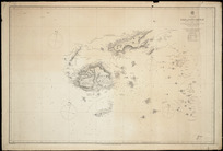 Fiji or Viti Group [cartographic material] / surveyed by Commander C. Wilkes, 1840 ; Nandi Bay, Makongai, Wakaya, Ovalau, Moturiki, Mbatifi, Nairai, Angau, Moala, Totoya, Matuku & Kantavu islands by H.M. Denham and the officers of H.M.S. Herald 1857 ; drawn by Edward J. Powell; engraved by J and C. Walker.