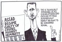 Scott, Thomas, 1947- :'This is technically impossible as all Syrian citizens who criticise my rule automatically forfeit the right to be considered human...' 2 February 2012