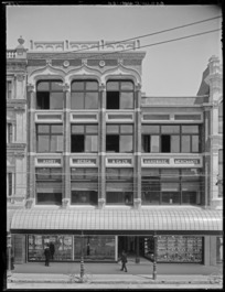 Building frontage of Ashby Bergh and Co Ltd, hardware merchants, High Street, Christchurch