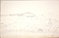 Collinson, Thomas Bernard 1822-1902 :Marsland Hill, N[ew] P[lymouth] from N. Z. Comp[any] L[and] Off[ice]. 1847