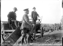 Sir Joseph Ward addressing an entrenchment group in France during World War I