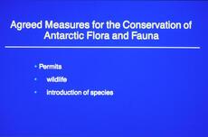 Conservation of Antarctic Flora and Fauna