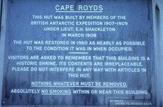 Shackleton's Hut plaque