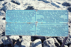 Plaque in Four Languages near Shackleton's Hut