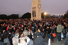 Anzac services well attended