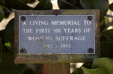 Women's suffrage plaque