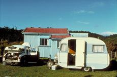 Opposum trapper's caravan, Okarito.