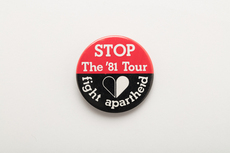 Stop the '81 Tour protest badge
