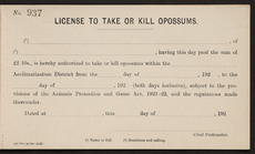 Possum license