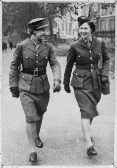 Two Women's Army Auxiliary Corps officers