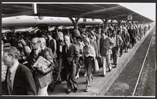 Commuters at Wellington Railway Station