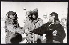 Admiral Dufek, Sir Edmund Hillary and Sir Vivian Fuchs