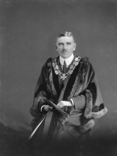 James Henry Gunson in mayoral attire