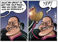 Valerie gets gold