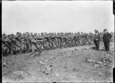Pioneer Battalion performing a haka