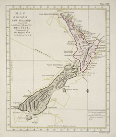 Cook's map of New Zealand, 1773