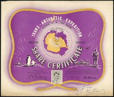 Expedition share certificate