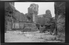 Ruins of ancient fortress, Rome, Italy