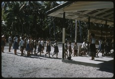 Children entering school building