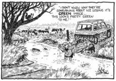 "Darroch, Bob, 1940- :""I don't know why they're complaining about NZ losing its GREEN image..."" 12 August 2013"