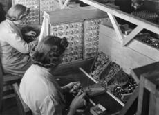Women working in a factory during World War 2