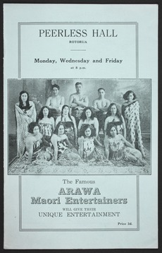 The famous Arawa Māori entertainers
