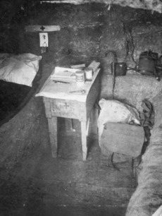 Interior of dug-out, Gallipoli