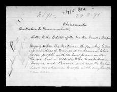 Letter by Arekatera Te Weraomahuta