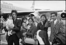 Asian refugees from Uganda arriving at Wellington airport