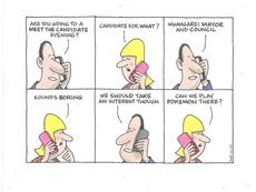 Local body election cartoon