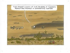 Polluted rivers-exporting water