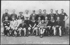 Postcard. New Zealand football team, 1905 / G.W.S.M. [1905?]