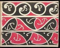 Drawings of Māori rafter patterns