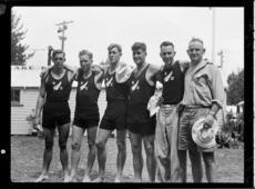 New Zealand rowing team, 1950 British Empire Games, Lake Karapiro