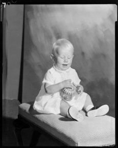 Studio portrait of [Webbster?] baby
