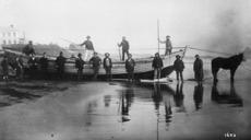 Settlers surf boat