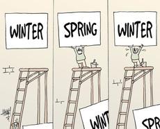 Winter, spring, winter.