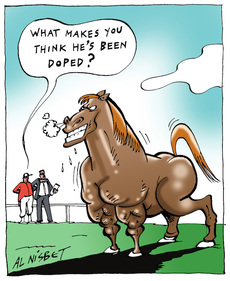 Is that horse doped?
