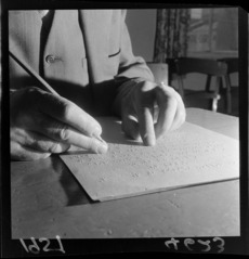 Proof reading Braille sheets for book