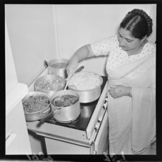 Woman preparing Indian food