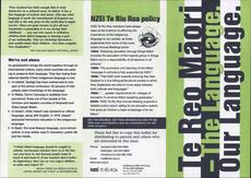 Te Reo Maori leaflet