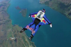 Auckland wingsuit flight was 'beautiful'