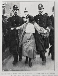 Young English suffragist