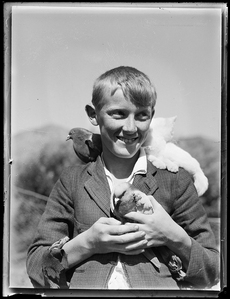 Boy and Pets