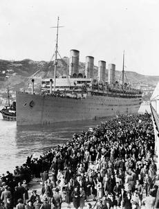 Troopship 'Aquitania'