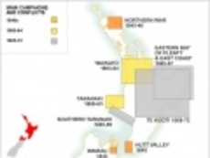 New Zealand Wars map
